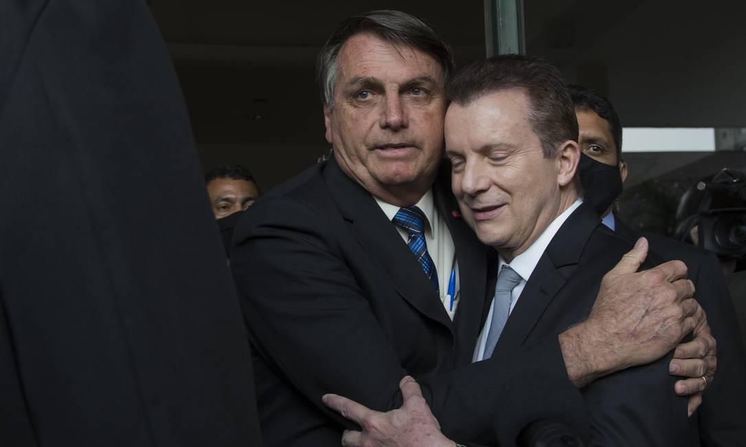 Russomanno e o presidente Jair Bolsonaro 05-10-2020 Foto: Edilson Dantas/Agência O Globo