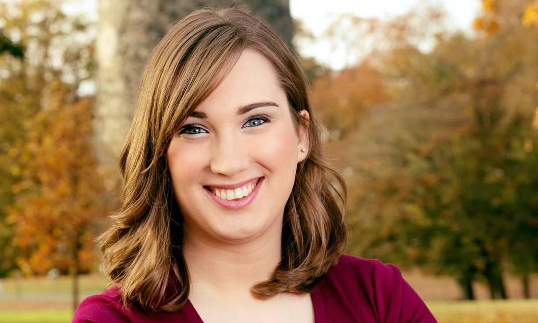 Sarah McBride é a primeira mulher trans a ser eleita para um Senado estadual, nos EUA Foto: Divulgação