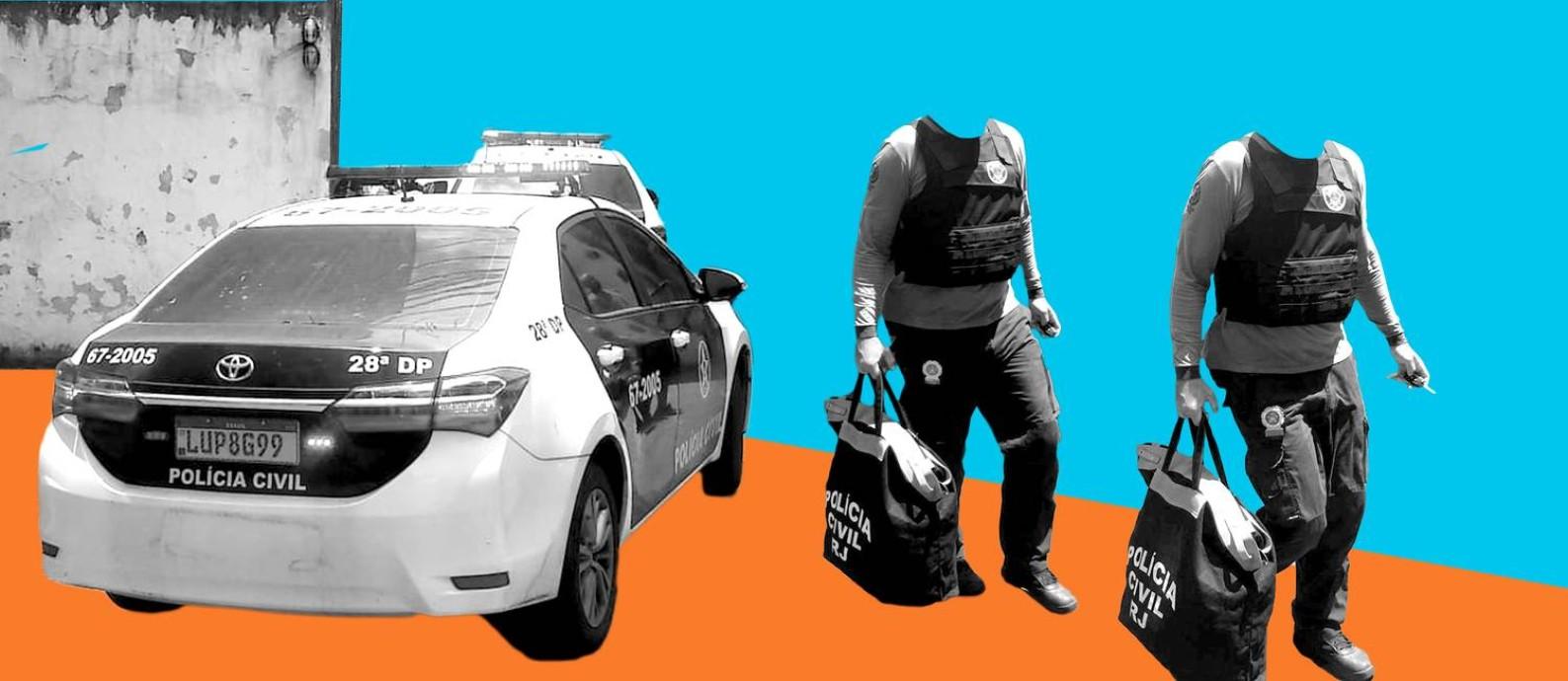 Construções irregulares e taxas cobradas pela prestação de serviços públicos viraram fontes de renda que ajudam a sustentar milícias e também o tráfico. Foto: Arte/O GLOBO