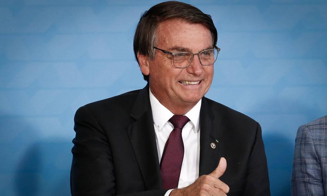 Presidente Jair Bolsonaro em evento mais cedo nesta quarta-feira Foto: Pablo Jacob / Agência O Globo