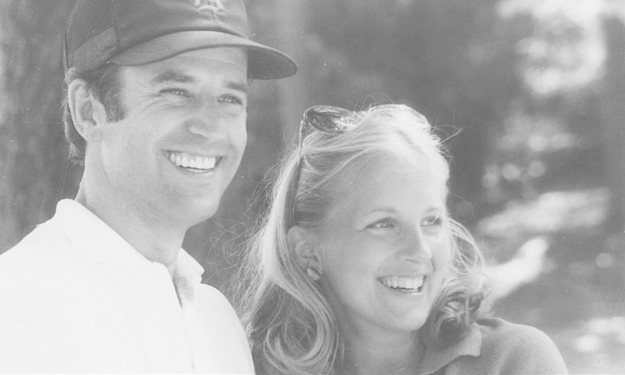 Joe e Jill Biden, segunda esposa. Eles se conheceram em 1975 e se casaram dois anos depois. Da união nasceu a filha Ashley Blazer, em 1981 Foto: Divulgação
