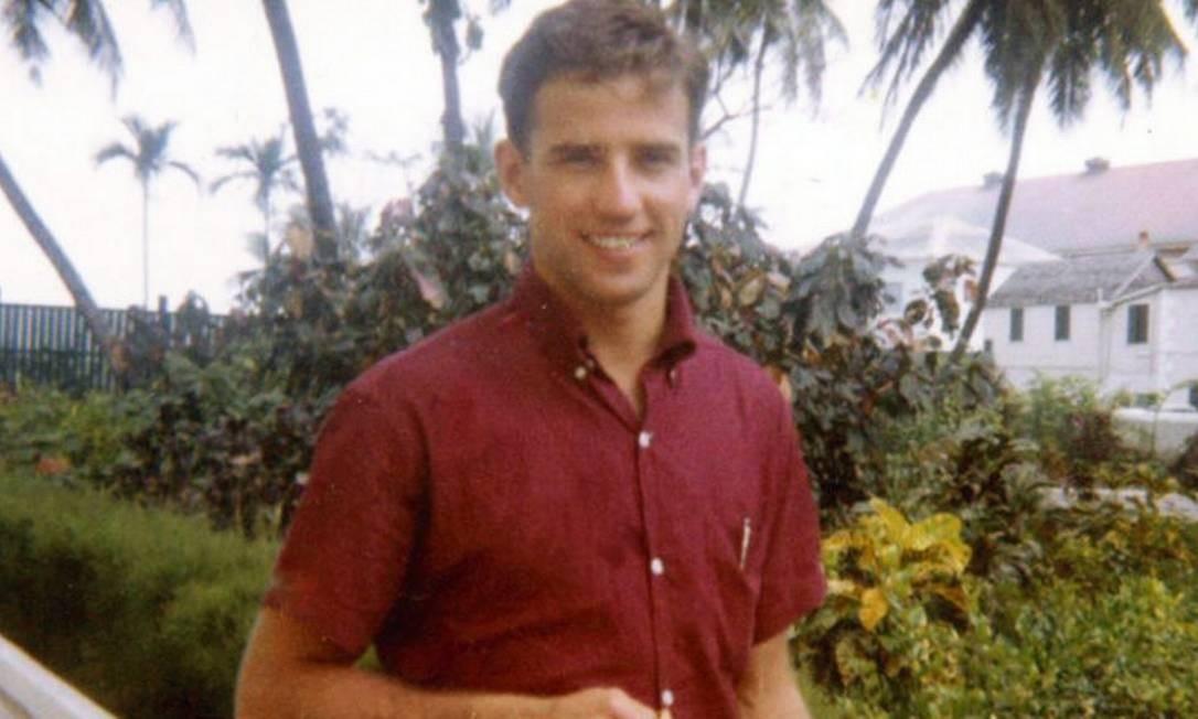 Joe na época da faculdade. Ele estudou história e ciências políticas na Universidade de Delaware. Depois seguiu para a Syracuse University, onde se formou em direito Foto: Divulgação