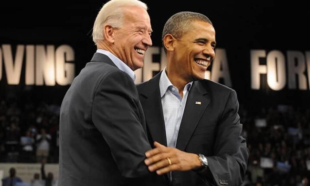 Em 2008, Barack Obama anuncia Biden como candidato à vice-presidência em sua chapa Foto: Divulgação