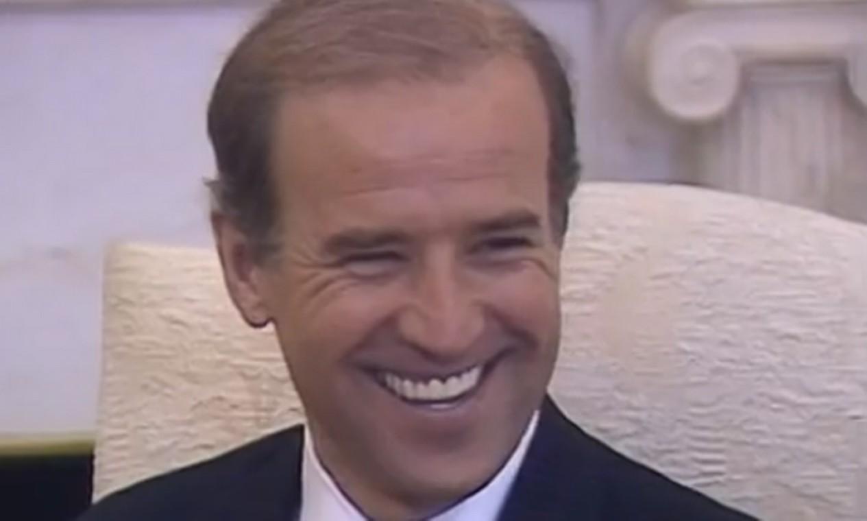 Em 1987, Biden se candidatou à presidência dos EUA, mas desistiu da campanha após ser acusado de plagiar um discurso político feito por Neil Kinnock, o líder do Partido Trabalhista Britânico Foto: Divulgação