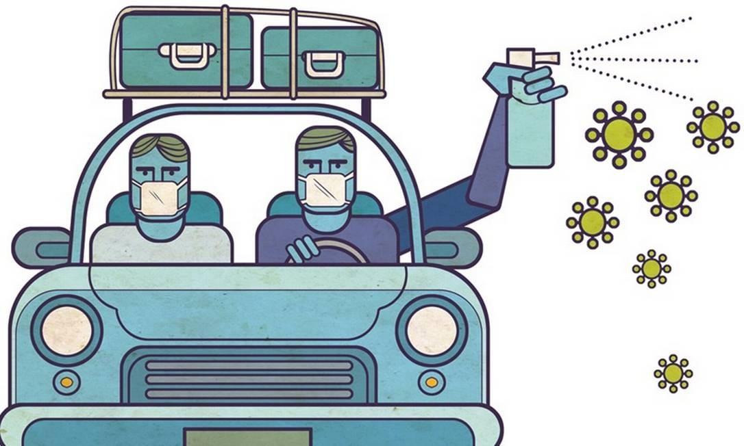 Vai viajar de carro? Saiba os cuidados Foto: Editoria de Arte