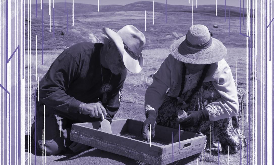 A partir de escavações no Peru, estudo concluiu que entre 30% e 50% dos caçadores na América pré-histórica podem ter sido mulheres Foto: AFP PHOTO/UC Davis/ Randall Haas