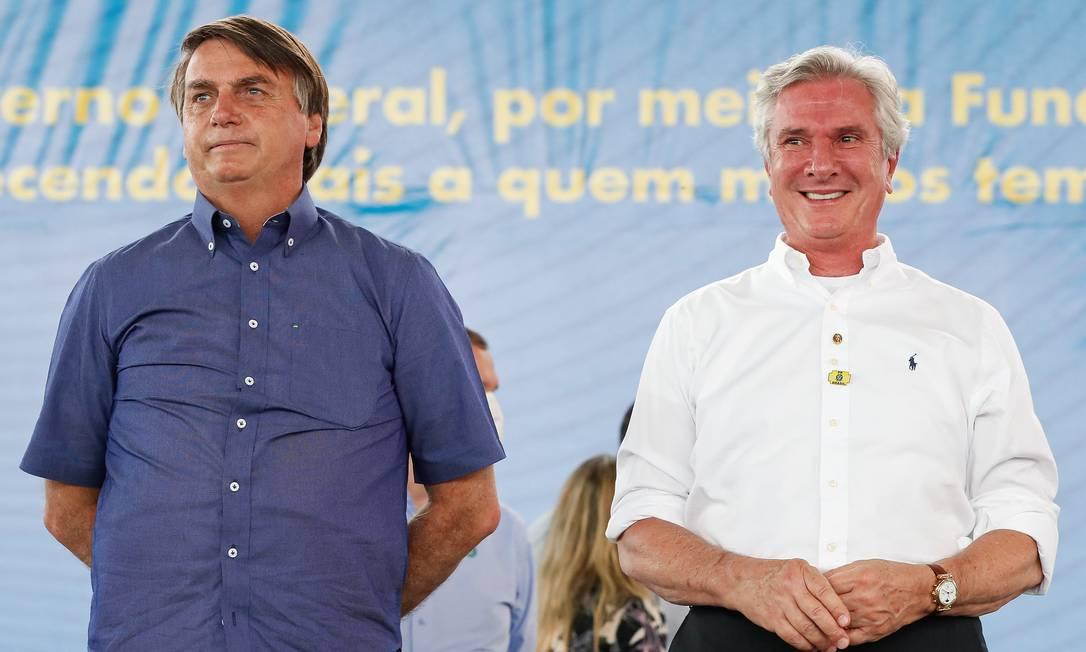 O presidente Jair Bolsonaro e o senador Fernando Collor, durante evento em Alagoas Foto: Alan Santos/Presidência