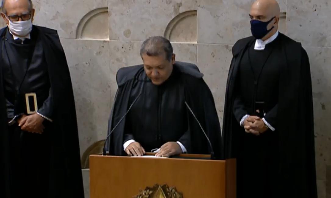 Ministro Kassio Marques toma posse no Supremo Foto: Reprodução/TV Justiça