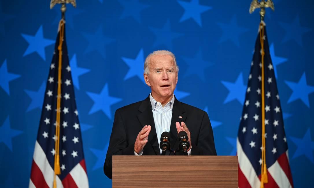 O democrata Joe Biden está perto de ser eleito presidente dos EUA Foto: Jim Watson / AFP