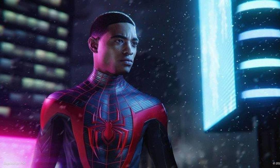 Miles Morales também apareceu no cinema em 'Homem-Aranha no Aranhaverso' Foto: Divulgação
