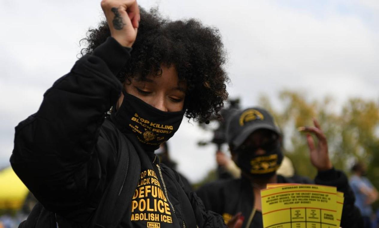 Mulheres negras comemoram em Atlanta, Geórgia Foto: BRANDON BELL / REUTERS
