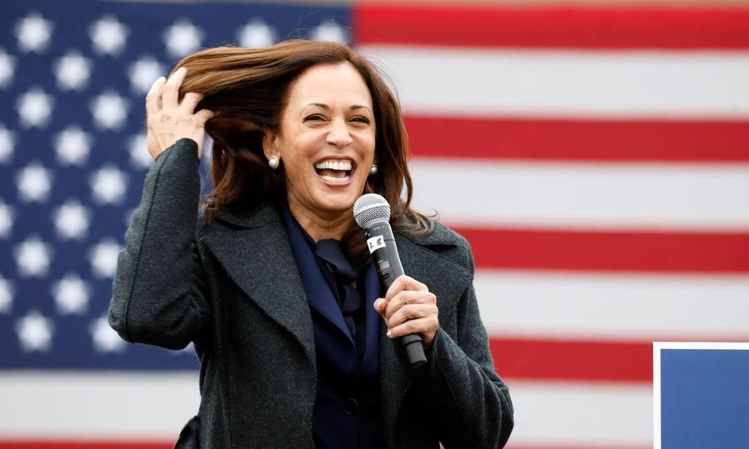 Personalidade carismática, Kamala Harris fala em seu evento de campanha em Detroit, Michigan, em 25 de outubro.  Foto: JEFF KOWALSKY / AFP