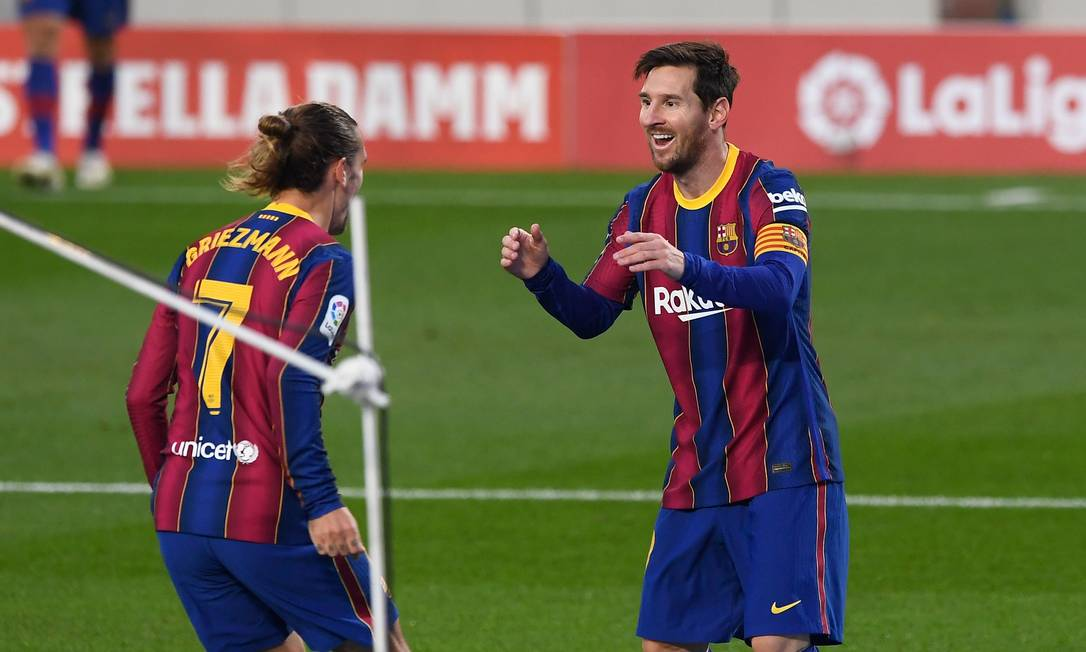 Messi saiu do banco para marcar Foto: JOSEP LAGO / AFP