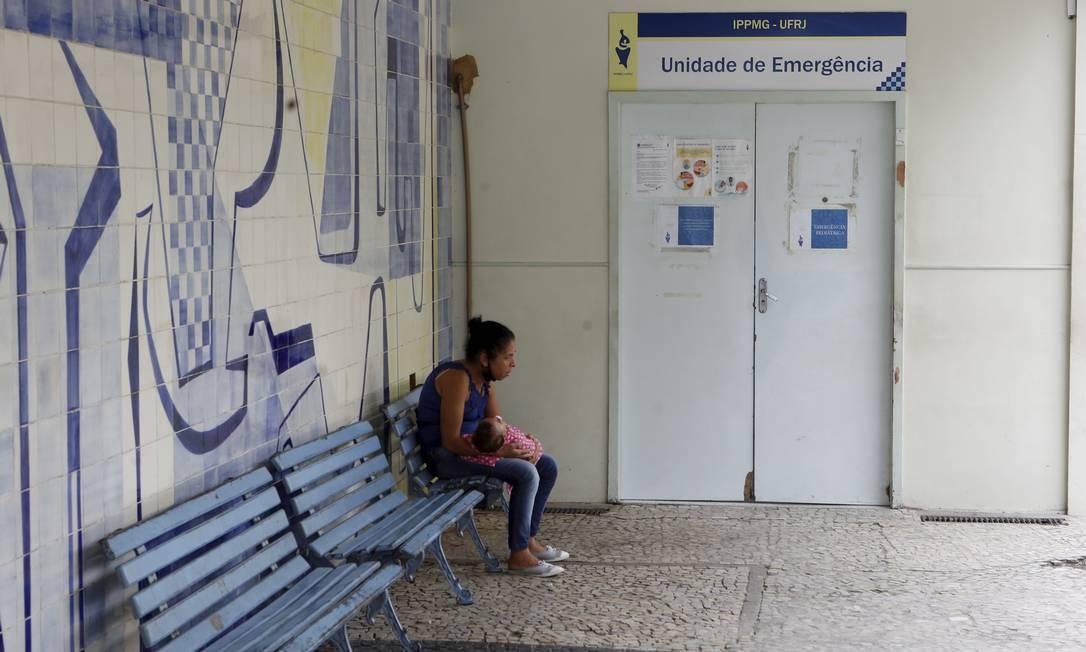 Emergência pediátrica que funciona 24h pode ser afetada Foto: Guilherme Pinto / Agência O Globo