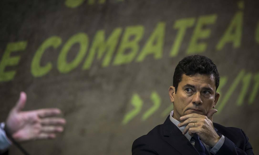 Sergio Moro, ex-juiz da Lava Jato e ex-ministro da Justiça Foto: Guito Moreto / Agência O Globo
