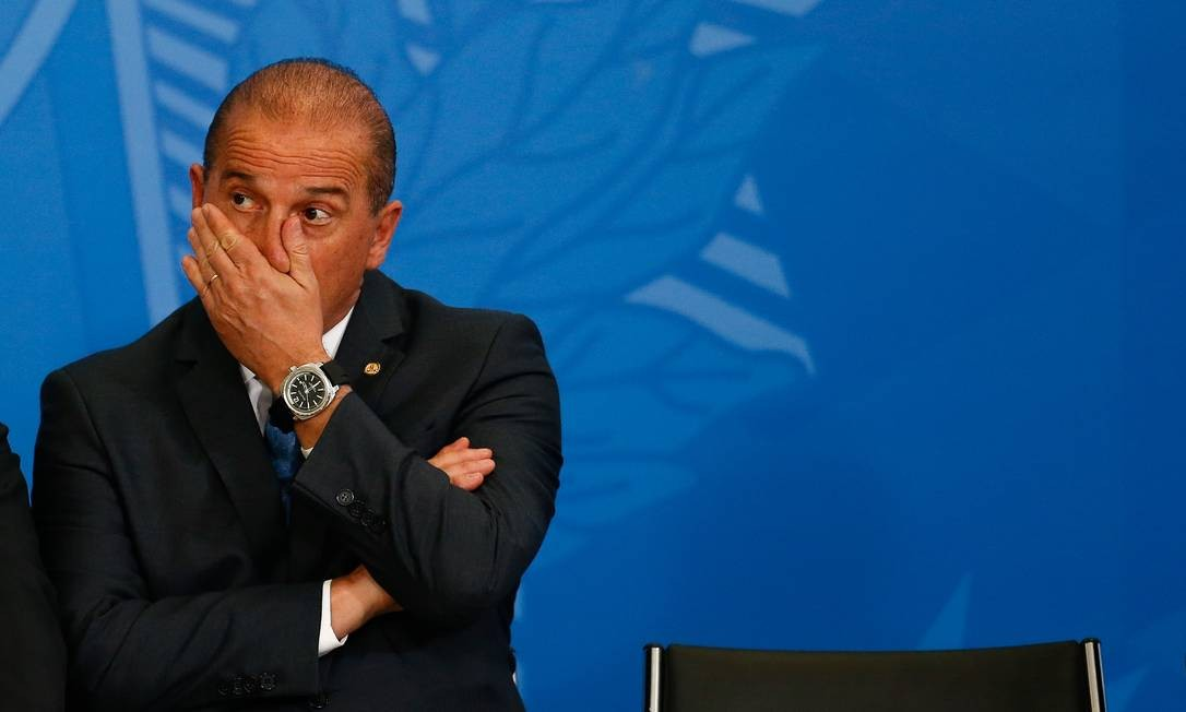 Ministro da Cidadania, Onyx Lorenzoni, perdeu influência e está cada vez mais isolado no governo Bolsonaro Foto: Pablo Jacob / Agência O Globo