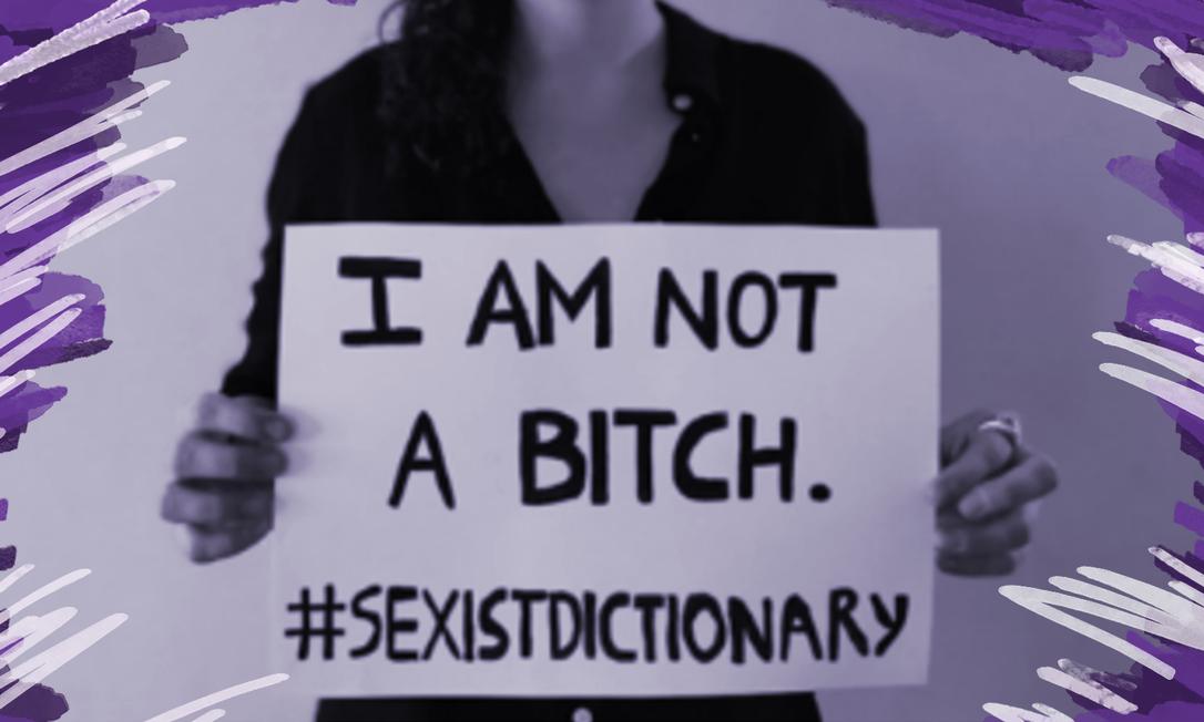 'Eu não sou uma vadia... #dicionáriosexista', diz ativista em campanha para revisão da definição da palavra 'mulher' no Dicionário Oxford Foto: Reprodução/Independent