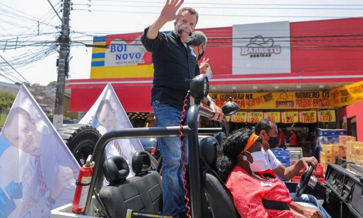 Celso Russomanno (Republicanos) Carreata pela Zona Sul da cidade de São Paulo Foto: Reprodução / Redes Sociais - 08/11/2020