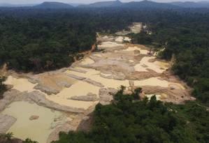 A TI Apyterewa tem sido alvo de fazendeiros, garimpeiros, madeireiros e grileiros Foto: Polícia Federal / Divulgação