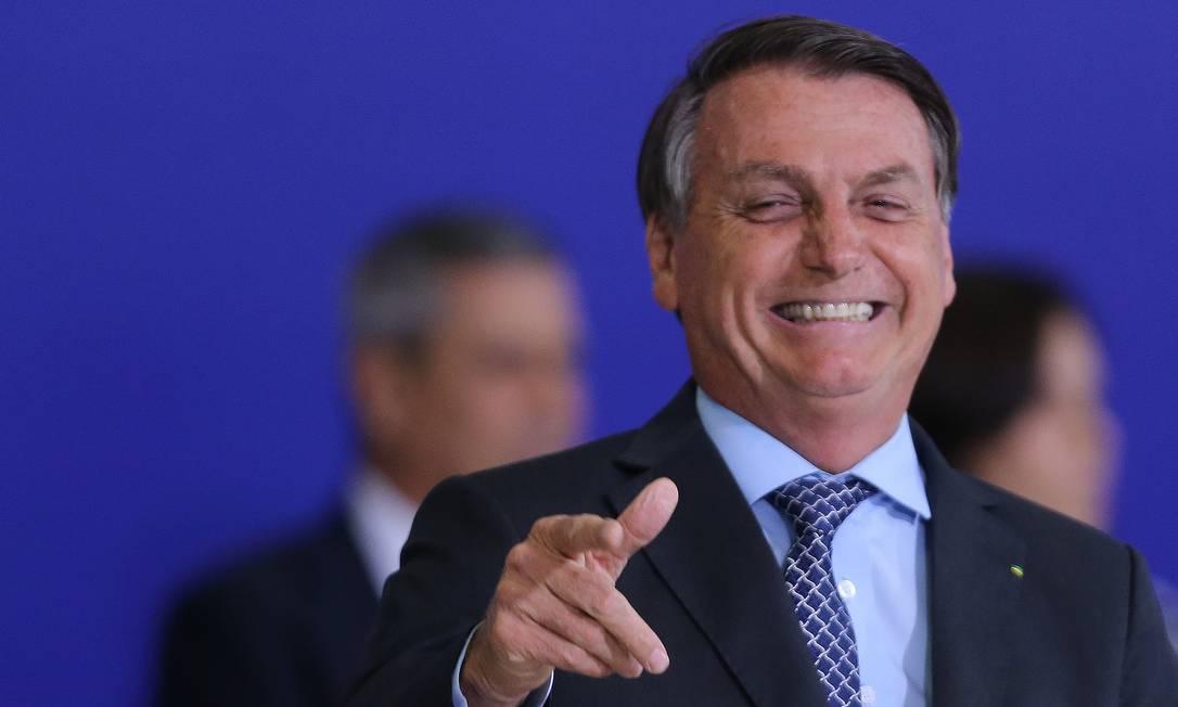 O presidente Jair Bolsonaro participa de cerimônia no Palácio do Planalto Foto: Jorge William/Agência O Globo/09-11-2020