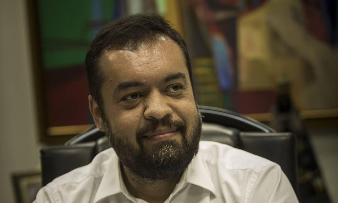 O governador em exercício Cláudio Castro falou sobre os planos para os próximos meses do Rio de Janeiro Foto: Guito Moreto em 09-11-2020 / Agência O Globo