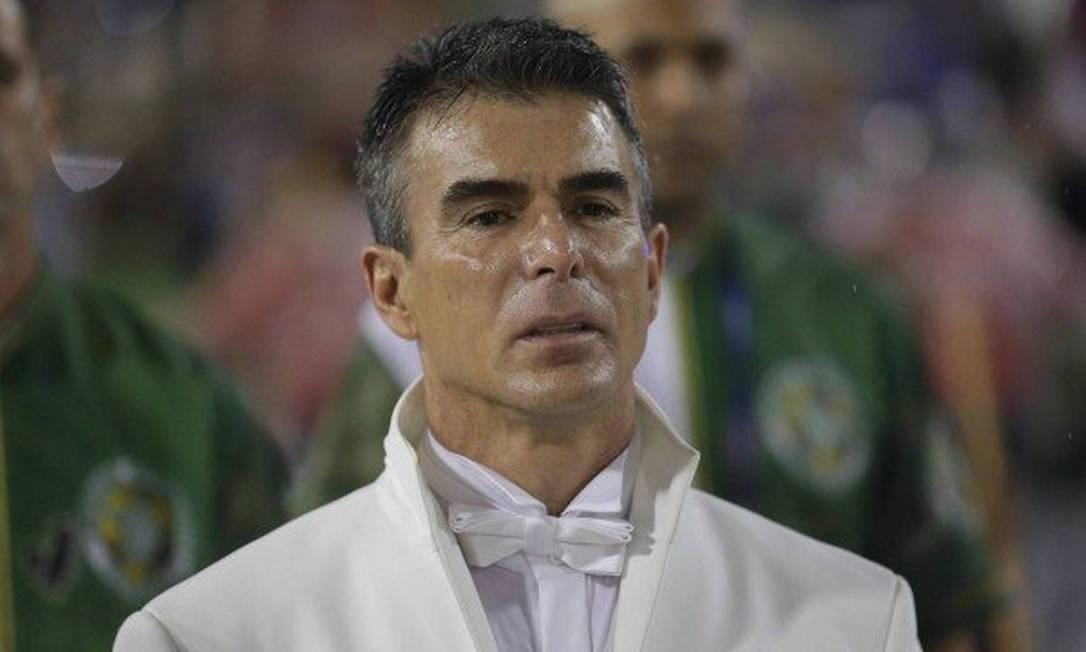 O contraventor Rogério Andrade, patrono da Mocidade Independente de Padre Miguel, foi preso novamente em junho de 2018 Foto:  / Reprodução
