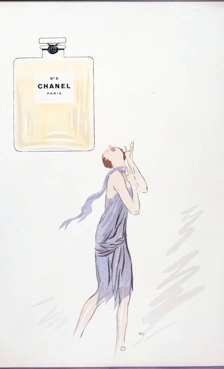 Anúncio ilustrado pelo caricaturista Georges Goursat, conhecido como Sem, em 1921 Foto: Getty Images