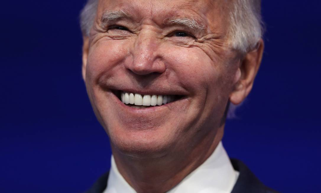 Presidente eleito dos Estados Unidos, o democrata Joe Biden Foto: JOE RAEDLE / AFP