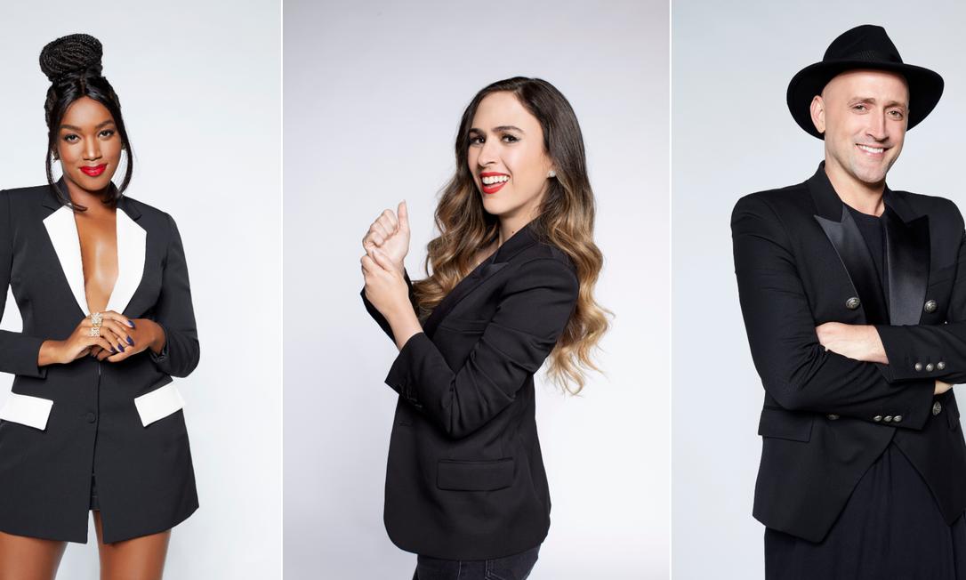 A estreante IZA comandará o Prêmio Multishow 2020 com os comediantes Tatá Werneck e Paulo Gustavo Foto: Divulgação/Juliana Coutinho