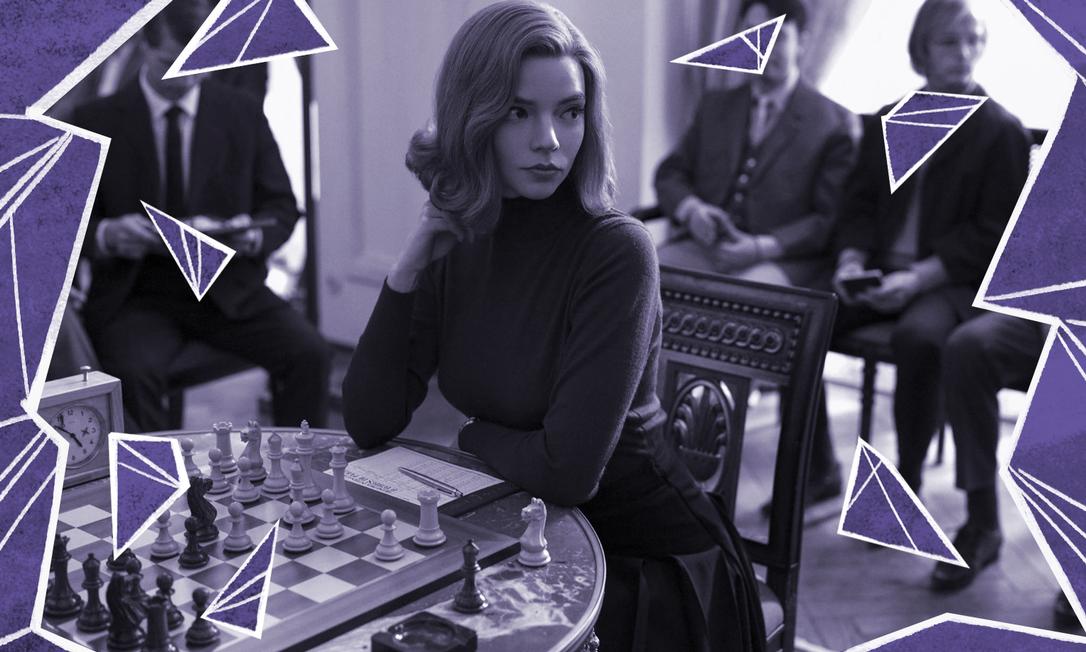 'O gambito da rainha' narra trajetória da protagonista Beth Harmon, interpretada por Anya Taylor-Joy, no mundo dominado por homens do xadrez Foto: Divulgação
