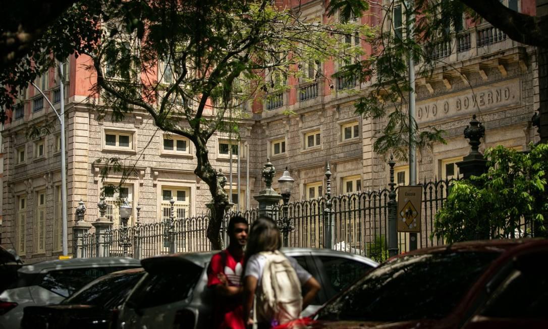 Retomada: Colégio Amaro Cavalcanti, no Largo do Machado, já reabriu Foto: Hermes de Paula em 19-10-2020 / Agência O Globo