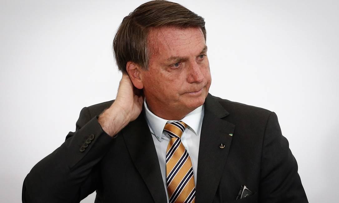 """Em evento sobre turismo, Jair Bolsonaro disse que o setor foi """"na lona"""" e que país deve deixarde ser """"de maricas"""" Foto: Pablo Jacob / Agência O Globo"""