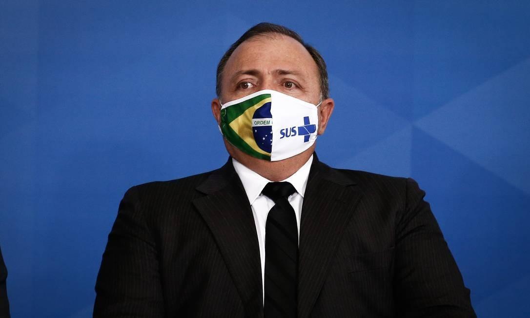 """O ministro da Saúde, Eduardo Pazuello, para quem o Brasil vive um """"repique"""" da pandemia Foto: Pablo Jacob / Agência O Globo"""