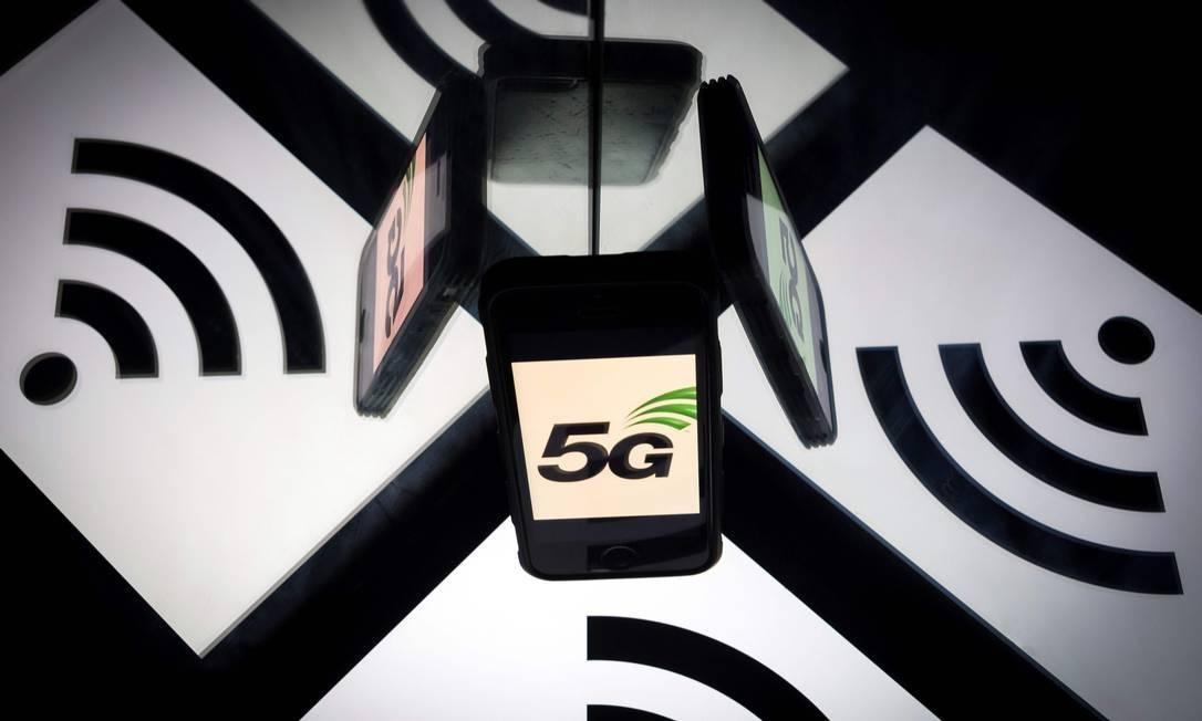 EUA tentam convencer o maior número possível de países a banir a chinesa Huawei como fornecedora de equipamentos para a frequência 5G Foto: LIONEL BONAVENTURE / AFP
