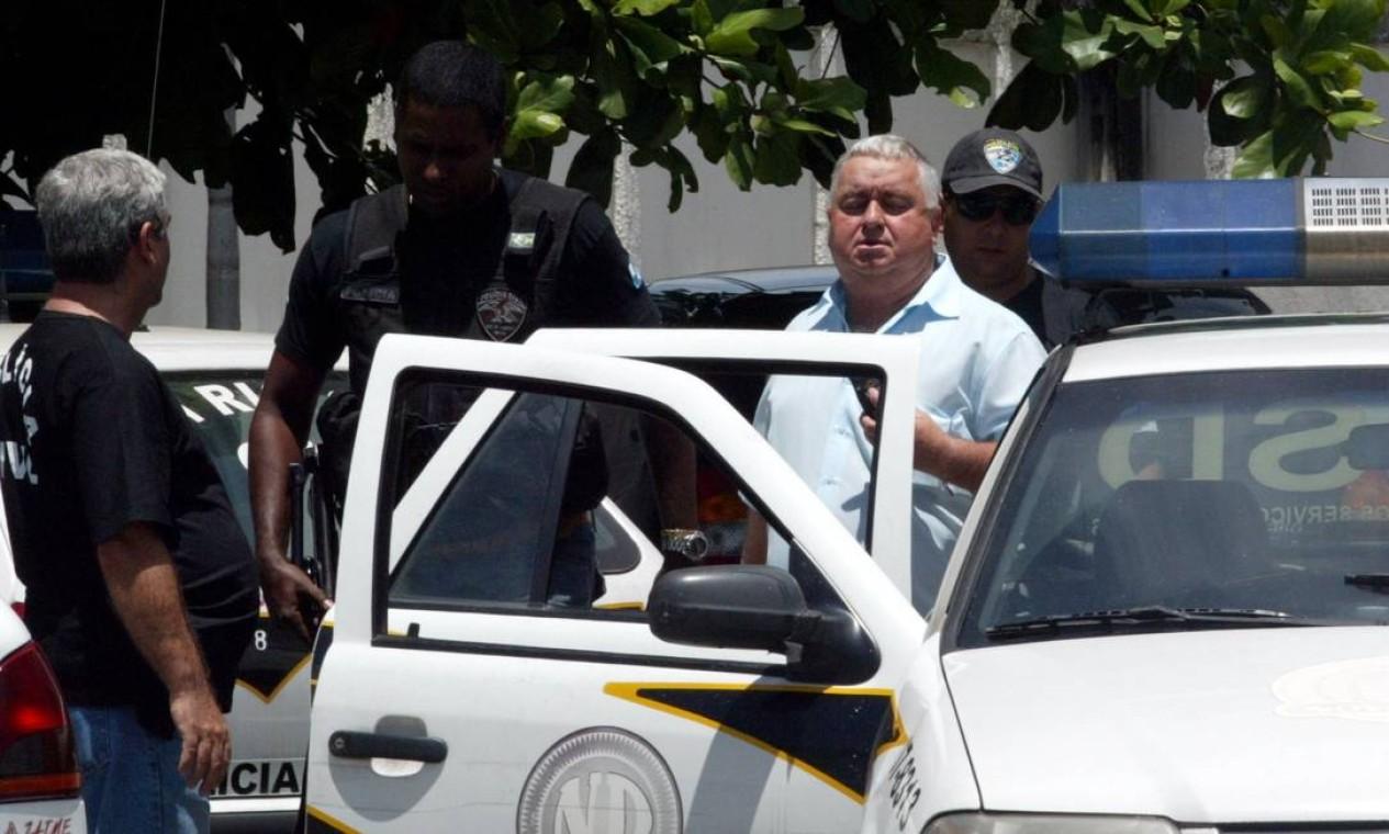 O então vereador Jerominho foi preso em 2007 durante operação da Polícia Civil para apreender vans e motos usadas no transporte alternativo, controlado pela milícia, em Campo Grande, na Zona Oeste do Rio Foto: Wania Corredo / Agência O Globo - 26/12/2007