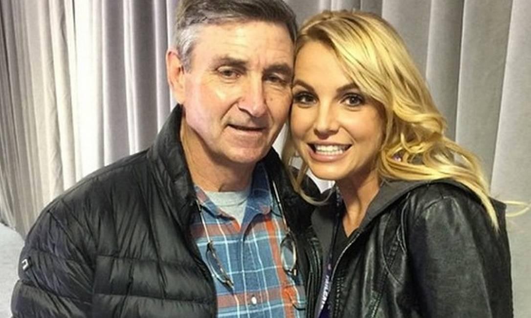 Britney Spears com o pai, Jamie Foto: Repordução/Instagram