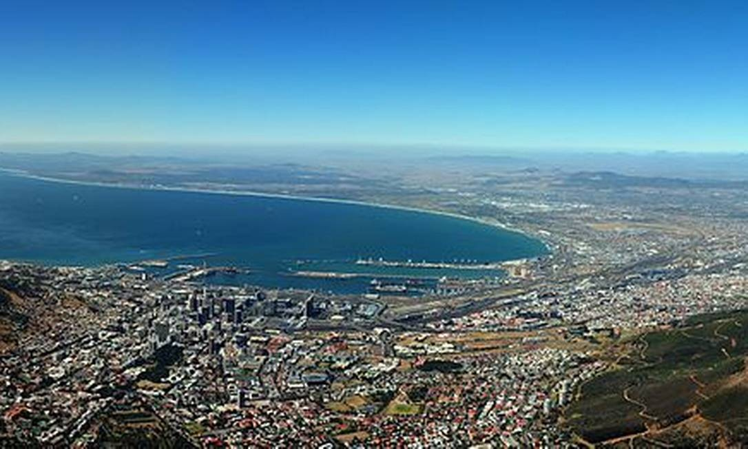 Table Mountain, um dos pontos turísticos da África do Sul Foto: Creative Commons