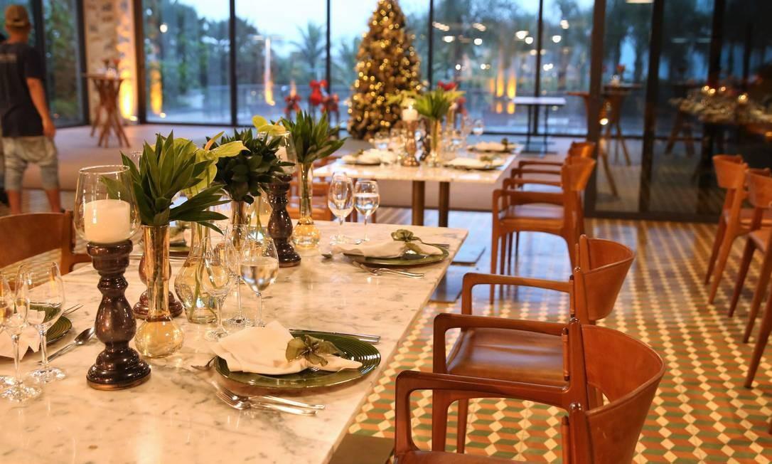 Salão do Grand Hyatt, onde acontecem as festas de fim de ano do hotel Foto: Divulgação
