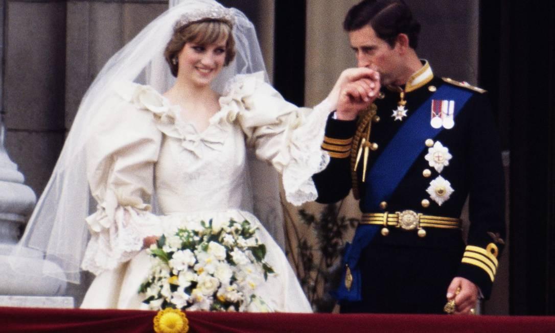 Charles e Diana no dia do casamento Foto: Getty