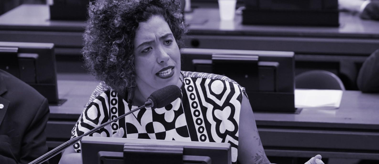 A deputada Talíria Petrone (PSOL-RJ), em sessão da Comissão de Constituição e Justiça da Câmara dos Deputados, em novembro de 2019 Foto: Pedro Valadares / Câmara dos Deputados