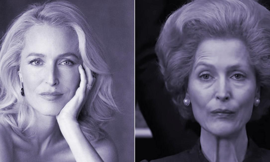 Gillian Anderson vive a primeira-ministra britânica Margaret Thatcher na quarta temporada de 'The Crown' Foto: Reprodução