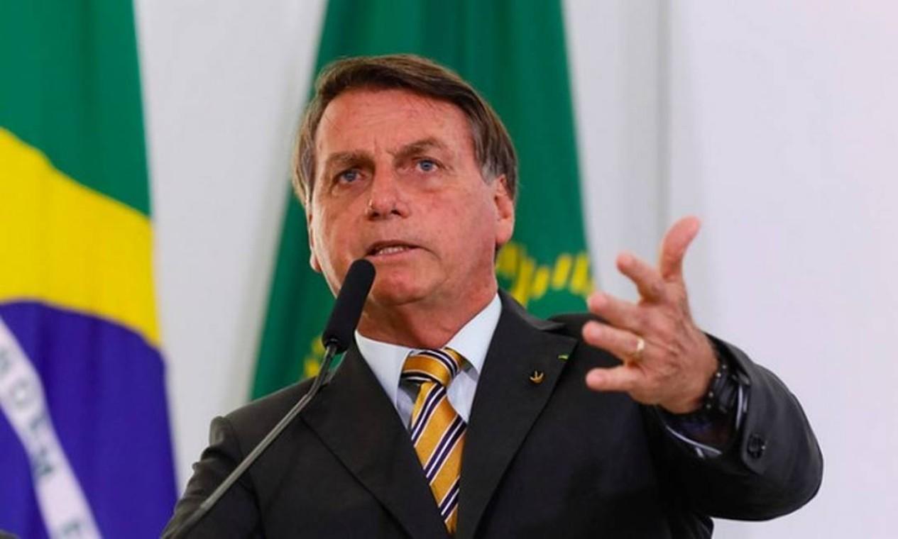 """O presidente Jair Bolsonaro cada vez se mostra mais claramente candidato à reeleição. Em visita à Câmara, em fevereiro, após ser xingado por deputados da oposição, ele respondeu: """"Nos encontramos em 22"""". Foto: Isac Nóbrega/PR"""