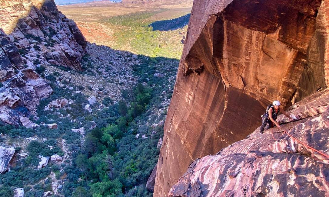 Red Rock Canyon National Conservation Area em Nevada Foto: JESSE RAMOS / NYT