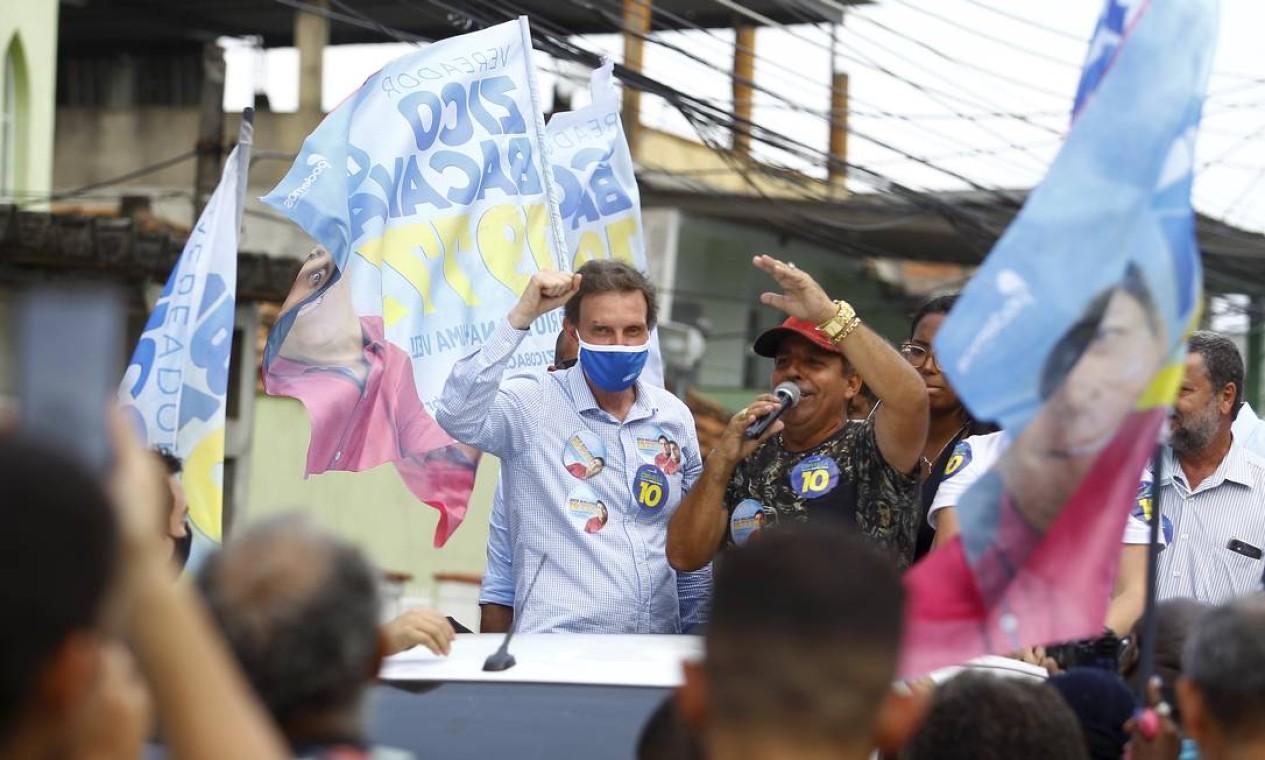 Carreata do prefeito e candidato à reeleição Marcelo Crivella (Republicanos) pela Zona Norte Foto: Guilherme Pinto / Agência O Globo