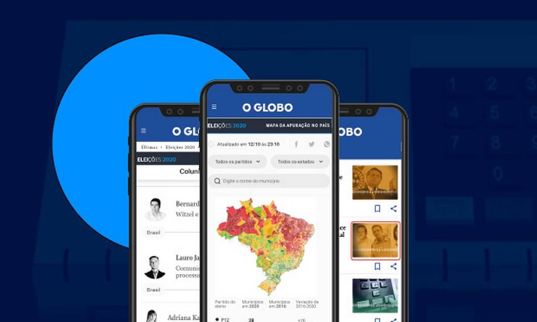 Acompanhe o tempo real no site do Globo Foto: Arte/O Globo