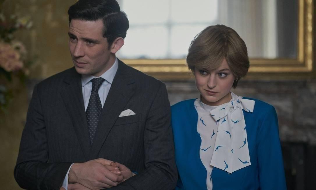 Josh O'Connor e Emma Corrin, como Charles e Diana, em cena da quarta temporada de 'The Crown' Foto: Divulgação/Des Willie/Netflix