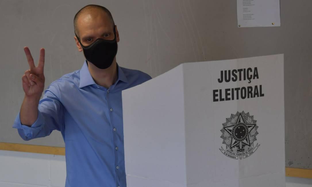 Bruno Covas (PSDB), candidato à reeleição em São Paulo Foto: NELSON ALMEIDA / AFP