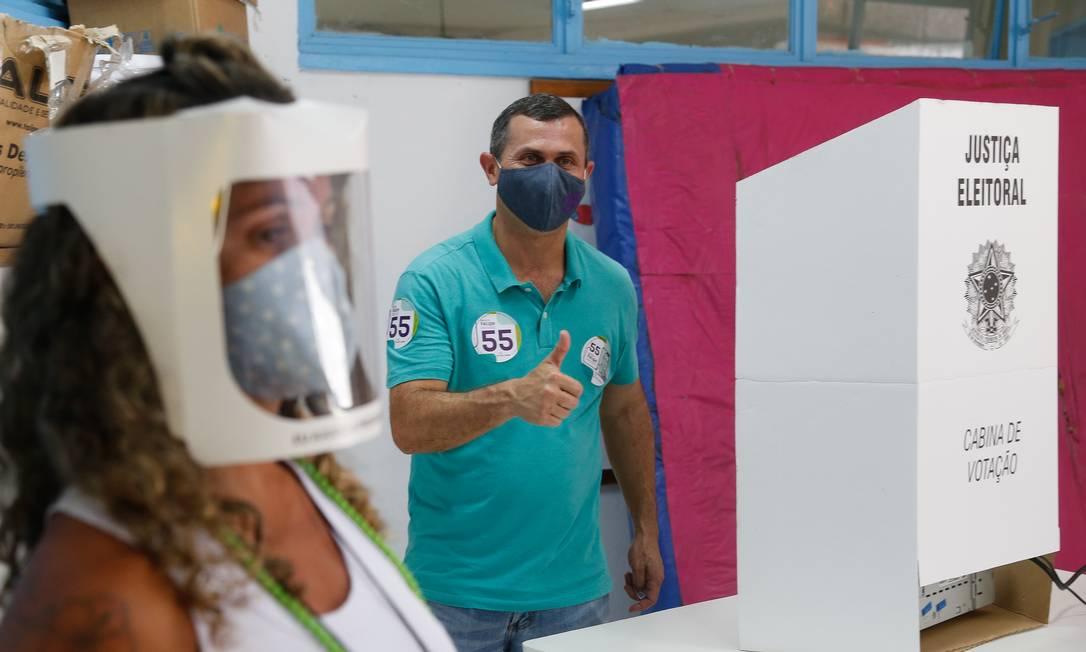 Felipe Peixoto (PSB), candidato à prefeitura de Niterói, Região Metropolitana do Rio Foto: ROBERTO MOREYRA / Agência O Globo