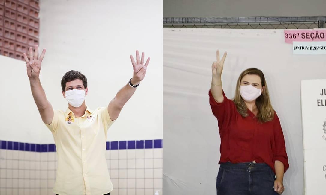No Recife, disputa pelo segundo turno será entre primos: João Campos e Marília Arraes Foto: Divulgação / Montagem