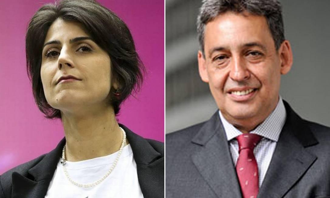 Manuela D'Ávila e Sebastião Melo Foto: Reprodução